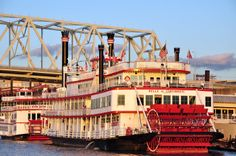 Cruising the Ohio by Virginia Wilson on Capture Cincinnati // The Belle of Cincinnati and the River Queen are Cincinnati icons.  They cruise along the Ohio offering passengers dancing and dining opportunities while enjoying sweeping city skyline views.  If you are lucky you may even catch a stunning sunset while on-board!  Some groups will charter a boat for their own private celebration.  Fun on the Ohio!