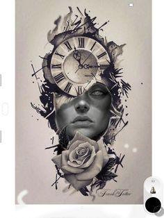 Forarm Tattoos, Time Tattoos, Hand Tattoos, Sleeve Tattoos, Clock Tattoo Design, Lion Tattoo Design, Tattoo Designs, Tattoo Sketches, Tattoo Drawings