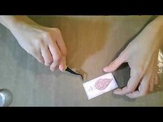 Shimmery Dryer sheet Tutorial - YouTube