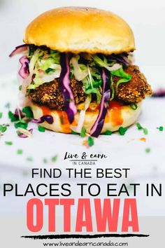 Are you looking for the best places to eat in Ottawa? Ottawa has some of the best restaurants in the province. If you are looking for delicious places to eat in Ottawa, click over right now to find out more! Pvt Canada, Ottawa Canada, Visit Canada, Ottawa Ontario, Canada Eh, Canadian Cuisine, Canadian Food, Canadian Rockies, Alberta Canada