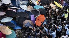 Was fordern die Demonstranten bei den Regenschirm-Protesten in Hongkong?