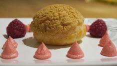 Pinky Cake, Choux façon Paris-Brest à la Framboise #choux #chouàlacrème #framboise #crèmemousseline #craquelin Paris Brest, Cake, Biscuits, Muffin, Tasty, Breakfast, Creamed Cabbage, Raspberry, Recipes