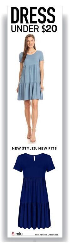 07b113daf65 Simlu Casual Tiered T Shirt Dresses For Women reg and Plus Size Summer  Sundress - USA