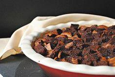 Cocoa bread pudding o pudin de pan al cacao. Receta de...