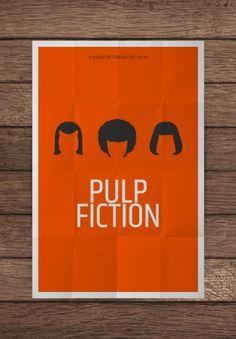 pulp fiction 02 affiche film minimaliste