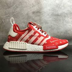 SUPREME X LOUIS VUITTON ADIDAS NMD R1 COLLABORATION RED WHITE