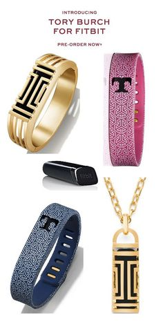 Getting fit has never been more stylish! Tory Burch for FitBit!