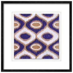 """Add eye-catching appeal to your living room or home office with this vibrant piece of art.  Product: Framed wall artConstruction Material: Paper, glass and polystyreneColor: Black frameFeatures:  Framed and matted giclee print on paper under glassReady to hang Dimensions: 22.5"""" H x 22.5"""" W"""