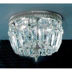 Found it at Wayfair - Crystal Baskets Light Semi-Flush Mount