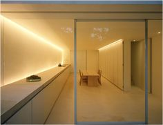 Indirect lighting; kitchen (John Pawson)