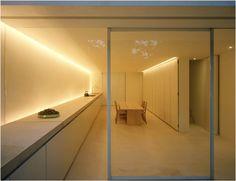 Indirect lighting; kitchen (John Pawson)