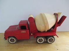 "16"" RARE ANTIQUE TONKA TOYS RED METAL CEMENT MIXING TRUCK TONKA   | eBay"