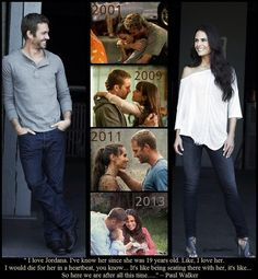 So here we are after all this time.... ~ Paul Walker  Paul Walker & Jordana Brewster