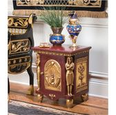 While this probably won't look good with my living room it is totally cool! Design Toscano Palace Ramses Egyptian Occasional End Table - Home Furniture Showroom Egyptian Furniture, Egyptian Home Decor, Egyptian Art, Egyptian Decorations, Ancient Egyptian Architecture, Hotel Room Design, Ethnic Decor, My Living Room, Unique Furniture
