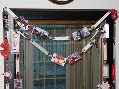 Recycle Christmas Cards into a friends and family garland with InMyOwnStyle.com