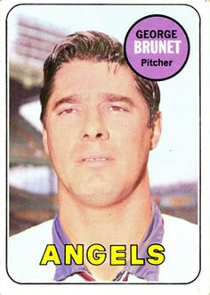 1969 Topps #645 George Brunet Front