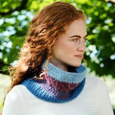 Saoirse Aran Cowl Knitting Kit An easy to knit cowl knit kit, ideal for knitters of all experience levels. Using worsted-weight Irish yarn, this cowl pattern is divided into four distinct sections with each one defined by its own shade. Knitting Kits, Knit Cowl, Yarn Colors, Redheads, Irish, Celebration, Easy, Pattern, Accessories