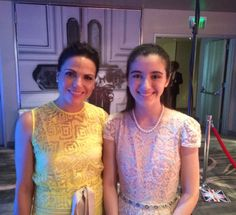 Thank you to beautiful @LanaParrilla for stopping to chat w/@JulietteBoland at the @BAFTALA #TVTea #HighlightOfHerDay