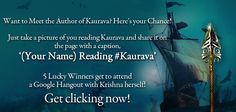 Your chance to meet Krishna Udayasankar! Head to 'The Aryavarta Chronicles' Facebook page to participate!
