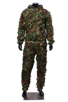 Jungle Burr Camouflage Clothing Ghillie Suit Camouflage Training Suit