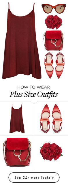 """Red"" by mariposa-fashion-21 on Polyvore featuring WearAll, Fendi, Chloé and Valentino Plus Size Dresses, Plus Size Outfits, Look Plus Size, Girl Tips, Fashion Show, Fashion Tips, My Size, Summer Wear, Women's Casual"