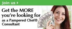 Pampered Chef Pampered Chef. If your interested in becoming a consultant let me know.