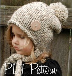 Knitting PATTERN-The Kymmber Slouchy (Toddler, Child and Adult sizes) also can be Made to Order