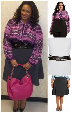 Ashley Stewart's Desk to Dinner Style Contest Chic And Curvy, Ashley Stewart, Plus Size Beauty, Signature Collection, Plus Size Outfits, Plus Size Fashion, Work Wear, Women's Fashion, Skirt