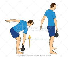 single arm deadlift kettlebell exercise