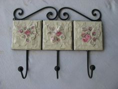 Old English China wall hooks......very vintage