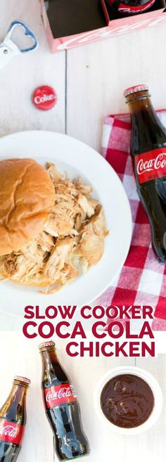Easy Coca-Cola + BBQ Slow Cooker Chicken via @spaceshipslb: