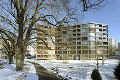 Wohnhaus Schwarzpark, Basel/CH - Mischkonstruktion aus Fertigteilen und Ortbeton - Objekte - Beton.org