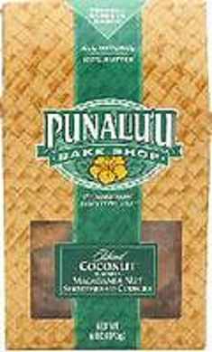 Punalu'u Bake Shop's All Natural Island Coconut Flavored Macadamia Nut Shortbread Cookies, Freshly Baked in Hawaii, Butter, 6 Ounce Package Hawaiian Cookies, Shortbread Cookies, Freshly Baked, Natural Flavors, Gourmet Recipes, Coconut, Butter, Island, Baking