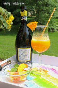 Frosty Peach Bellini