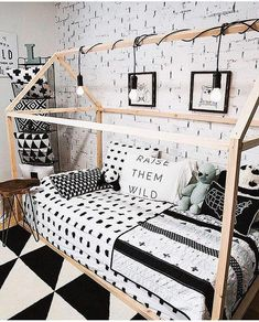 I am a sucker for all things black and white! And having a bed against the wall, means it is hard to make. But with Beddys, all you do is zip! This room from is pretty amazing right? Girls Bedroom, Bedroom Decor, Bedroom Furniture, Kid Bedrooms, Zipper Bedding, Kids Room Design, New Room, Room Inspiration, Home