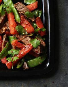 Beef-and-Watermelon Stir-fry  Southern Living(August 2012)