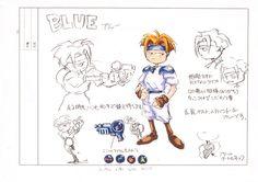 Artwork of Blue, from 'Gunstar Heroes' on the Sega Genesis. Treasure Games, Sega Mega Drive, Blue T, Retro Gamer, Art Archive, Video Game Art, Sega Genesis, Zine, Book Art