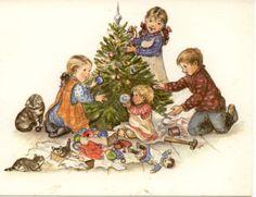 Rare Tasha Tudor Vintage Irene Dash Christmas Card