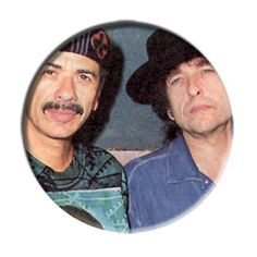 ONLY ONE Santana Bob Dylan 2-1/4 Inch Button