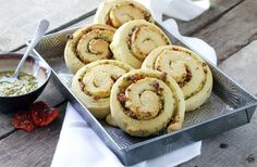 Parmesan Pesto Swirl Rolls by foodfanatic