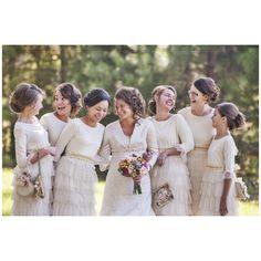Beautiful Dream dresses | Modest Cream Bridesmaid Dresses by Dainty Jewell's