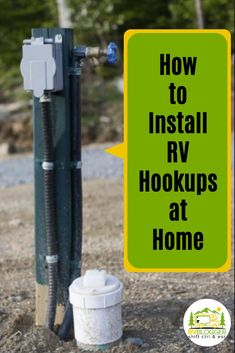 Ever wish you had an RV full hook up system at your home? Whether you plan to live in your RV on private property or need RV maintenance, having RV electrical hook up at home, along with water and sewer is a bonus! Learn how to install an RV full hook up at home. #rvblogger #rvwater #rvelectric #rvsewer #livinginanrv #rvtips #rvbeginner #traveltrailertips #campertips