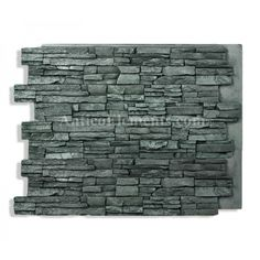 36 x 48 stacked stone charcoal faux stone goes over existing siding and is diy