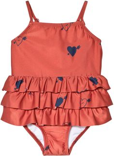 950b608bc024a Mini Rodini Red Heart Frill Swimsuit Kids Swimwear, Swimsuits, Baby Swimsuit,  Kids Fashion