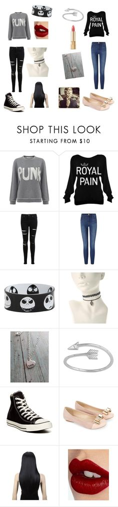 """""""Different but same"""" by grunge-girl27 ❤ liked on Polyvore featuring Bella Freud, Miss Selfridge, Frame, Midsummer Star, Converse, Monsoon, Charlotte Tilbury and Dolce&Gabbana"""