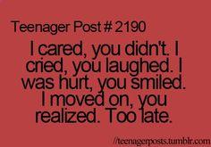 What I went through with EVERY ex boyfriend