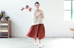 Maroon summer loose shorts new cool casual pants by ideacloth, $56.00
