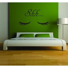 Hey, I found this really awesome Etsy listing at http://www.etsy.com/listing/77696047/shh-closed-eyes-vinyl-wall-decal
