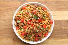 Quick & Easy One-Pot Taco Spaghetti