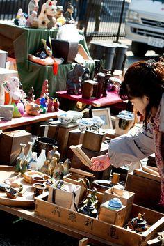 #Kyoto flea market, at a temple.